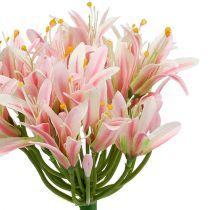 Silk flower agapanthus pink 80cm