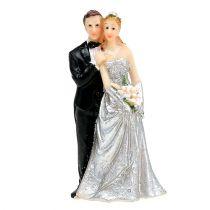 Silver wedding couple 10cm