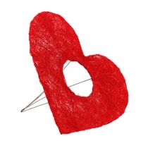 Sisal heart cuff 20cm red heart sisal flower decoration 10pcs
