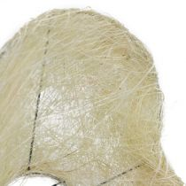 Sisal cuff heart bleached 27cm 1p