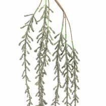 Succulent tendril hanging green, bronze metallic 114cm