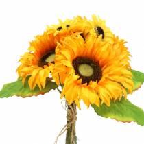 Decorative bouquet of sunflowers bunch yellow 30cm