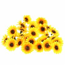 Scattered sunflower heads yellow Ø3.3cm 100p