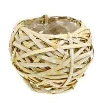 Chip basket round yellow Ø18cm H16cm