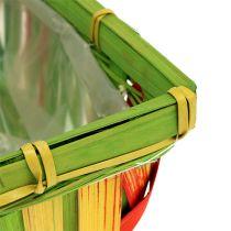 Chip basket set, square, multicolored 12pcs 20cm x 11cm