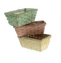 Chip basket set, square, multicolored 30 / 12cm 6pcs