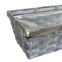 Chip basket set white / gray / brown 6 pcs. 25 / 12cm