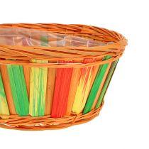Chip tray, round, multicolored, 12 pieces Ø 20cm