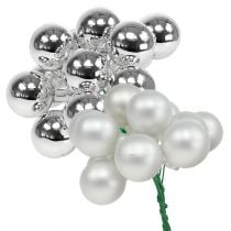 Mirror berries 25mm silver mix 140p