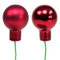 Mirror berries red mix Ø25mm 140p