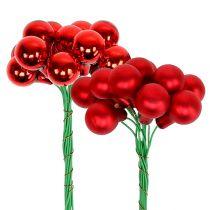 Mirror berries red matt, glossy Ø1.5cm 140p