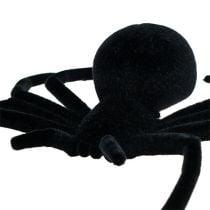 Spider black 16cm flocked