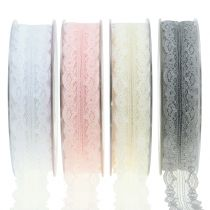 Lace ribbon with wavy edge 25mm 20m
