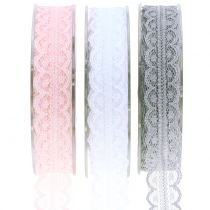 Lace ribbon with wavy edge 20mm 20m