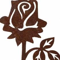 Metal plug rose stainless steel metal 20cm × 8cm 12pcs