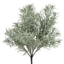 Stone slice bush with glitter 37cm