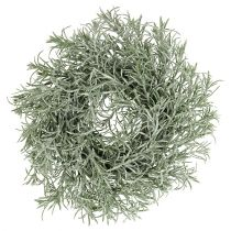 Decorative wreath Ø30cm with glitter green