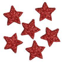 Star glitter 1,5cm for sprinkling red 144pcs