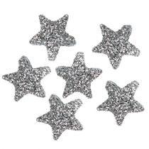Star glitter 1,5cm for sprinkling silver 144pcs