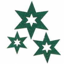 Scattered decoration star green 3-5cm 48pcs