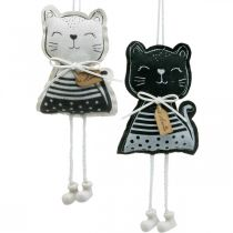 Fabric cats to hang, spring decoration, decoration hanger cat, gift decoration 4pcs