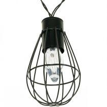 LED solar fairy lights garden decoration black 350cm 8LED