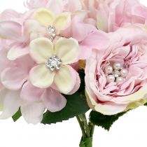 Bouquet of pink with pearls 29cm