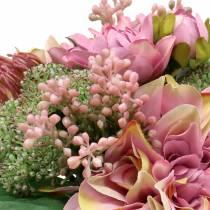 Bouquet of flowers dahlia, protea 25cm