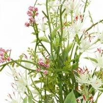 Spring bouquet artificial pink, white, green artificial bouquet H43cm