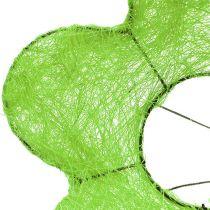 Sisal bouquet cuff green Ø15cm 10pcs