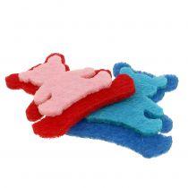 Scattered bear made of felt assorted colors 3.5cm x 3.5cm 100pcs