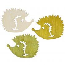 Streudeko hedgehog made of wood assorted colors 4cm 72p