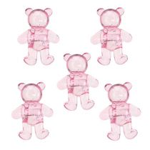 Scattered bear pink 3.5cm 60p