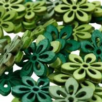 Sprinkle decoration flower green, light green, mint wood flowers to sprinkle 144p