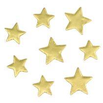 Scattered decoration stars mix 4-5cm gold matt 72pcs