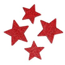 Scattered stars red, mica 4-5cm 40pcs
