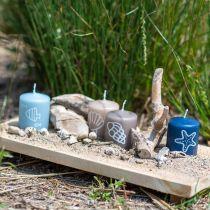 Pillar Candles 60/50 Maritime Decoration Candle Summer Decoration Mix Safe Candle 4pcs
