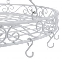 Tray with hook Ø44.5cm for hanging white