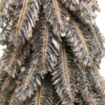 Pine cones, Christmas decorations, snow-covered winter fir, washed white H40cm Ø18cm