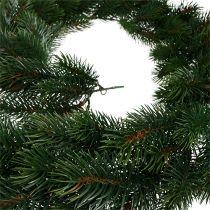 Fir garland round tied green 190cm