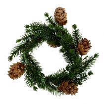 Fir wreath with cones Ø11cm 6pcs