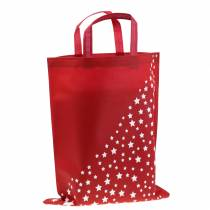 Tote bag red with stars 38cm x 46cm 24pcs