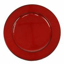 Decorative plate red / black Ø22cm