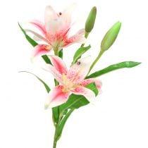 Tiger lily pink, white 60cm