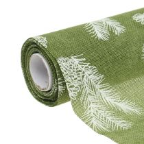 Table ribbon with fir pattern green 20cm 5m
