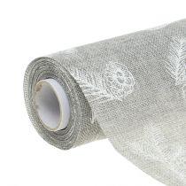 Table ribbon with fir motif gray 20cm 5m