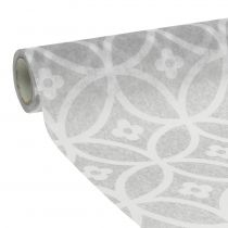 Table tape fleece with pattern gray 30cm x 300cm