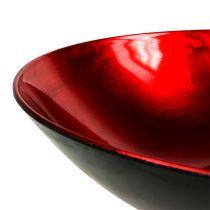 Table decoration bowl red Ø28cm plastic