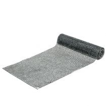 Table runner with sequins silver W25cm L228cm