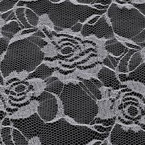 Table runner lace white 200mm 10m